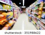 Stock photo abstract defocused blur image of pet food market or shop pet 351988622