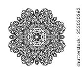 black and white decorative... | Shutterstock .eps vector #352020362