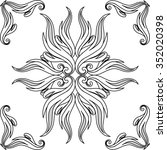 contour floral vector elements | Shutterstock .eps vector #352020398