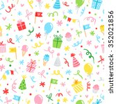 party accessories fun seamless... | Shutterstock .eps vector #352021856
