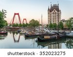rotterdam city  oude haven... | Shutterstock . vector #352023275