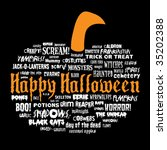 happy halloween and other scary ... | Shutterstock .eps vector #35202388