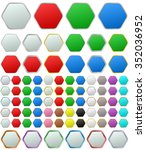 color metallic rounded hexagon...