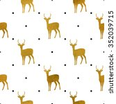 Christmas Pattern With Golden...