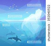 iceberg infographics. landscape ... | Shutterstock .eps vector #352040522