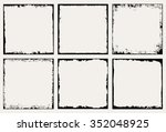grunge frame.grunge background... | Shutterstock .eps vector #352048925