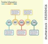 timeline infographics template. ... | Shutterstock . vector #352050416