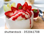 close up a bowl of sweet... | Shutterstock . vector #352061708