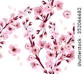 background sakura. seamless... | Shutterstock .eps vector #352066682
