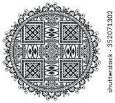 black mandala. vector geometric ... | Shutterstock .eps vector #352071302