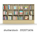 colorful book shelf | Shutterstock . vector #352071656