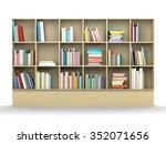 colorful book shelf   Shutterstock . vector #352071656