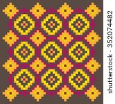 bright stitching pattern on a... | Shutterstock .eps vector #352074482