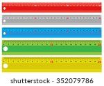 set of colorful rulers   Shutterstock .eps vector #352079786