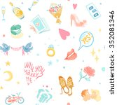 love seamless pattern | Shutterstock . vector #352081346