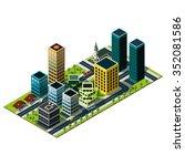 modern isometric city map. set... | Shutterstock . vector #352081586