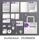 stationery set. corporate... | Shutterstock .eps vector #352086836