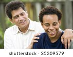 hispanic father with african... | Shutterstock . vector #35209579