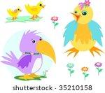 mix of ducks  chicken  parrot ... | Shutterstock .eps vector #35210158