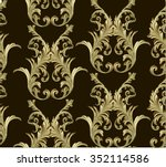 baroque damask vector pattern... | Shutterstock .eps vector #352114586