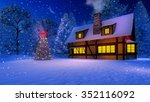 illuminated christmas tree and... | Shutterstock . vector #352116092