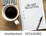 new year resolutions | Shutterstock . vector #352126382