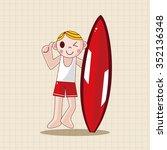swimmer theme elements | Shutterstock .eps vector #352136348