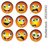 collection of nine cartoon... | Shutterstock .eps vector #35215411