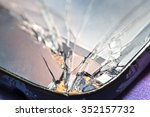 smartphone with broken screen. | Shutterstock . vector #352157732