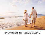 happy romantic middle aged... | Shutterstock . vector #352166342