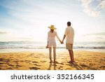 happy romantic middle aged... | Shutterstock . vector #352166345