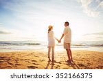 happy romantic middle aged... | Shutterstock . vector #352166375