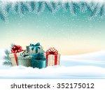 winter christmas background... | Shutterstock .eps vector #352175012