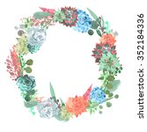 wreath composed of plant... | Shutterstock . vector #352184336