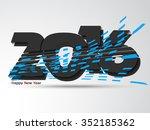 happy new year 2016 creative... | Shutterstock .eps vector #352185362