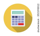 flat icon of calculator with...