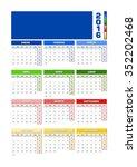 calendar 2016 spanish for...   Shutterstock .eps vector #352202468