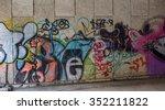 beautiful street art of... | Shutterstock . vector #352211822