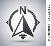 north direction compass icon ... | Shutterstock .eps vector #352227692