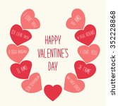 cute retro valentines day card... | Shutterstock .eps vector #352228868