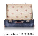 Open Black Vintage Suitcase...