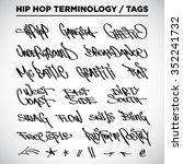 hip hop terminology.... | Shutterstock .eps vector #352241732