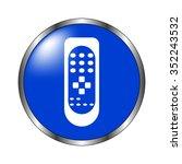 remote control   vector icon on ... | Shutterstock .eps vector #352243532