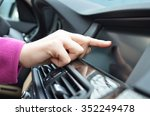 driver entering an address into ... | Shutterstock . vector #352249478