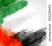 uae colors art  united arab... | Shutterstock .eps vector #352250492
