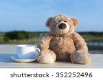 Brown Bear Doll With Coffee Cu...