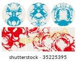 vector wave background   Shutterstock .eps vector #35225395