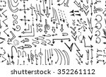 hand drawn doodle seamless... | Shutterstock .eps vector #352261112