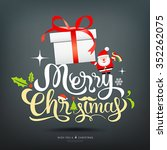 merry christmas greeting card... | Shutterstock .eps vector #352262075