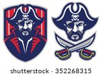one eye pirate mascot | Shutterstock .eps vector #352268315